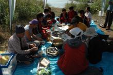 日野川下り昼ご飯